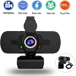 allrier webcam with microphone privacy cover
